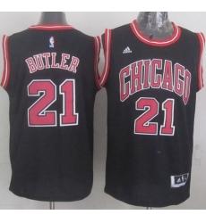 Revolution 30 Bulls #21 Jimmy Butler Black Stitched NBA Jersey