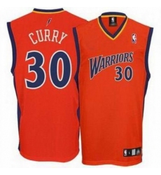 Men's Adidas Golden State Warriors #30 Stephen Curry Authentic Orange NBA Jersey