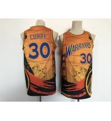Men's Golden State Warriors #30 Stephen Curry San Francisco Basketbal Jersey