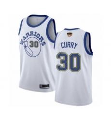 Women's Golden State Warriors #30 Stephen Curry Swingman White Hardwood Classics 2019 Basketball Finals Bound Basketball Jersey