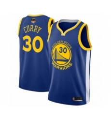 Youth Golden State Warriors #30 Stephen Curry Swingman Royal Blue 2019 Basketball Finals Bound Basketball Jersey - Icon Edition