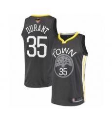 Men's Golden State Warriors #35 Kevin Durant Swingman Black 2019 Basketball Finals Bound Basketball Jersey - Statement Edition