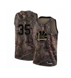 Men's Golden State Warriors #35 Kevin Durant Swingman Camo Realtree Collection Basketball 2019 Basketball Finals Bound Jersey