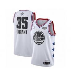 Men's Jordan Golden State Warriors #35 Kevin Durant Swingman White 2019 All-Star Game Basketball Jersey
