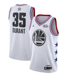Men's Nike Golden State Warriors #35 Kevin Durant White Basketball Jordan Swingman 2019 All-Star Game Jersey