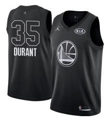 Men's Nike Jordan Golden State Warriors #35 Kevin Durant Swingman Black 2018 All-Star Game NBA Jersey
