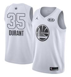 Men's Nike Jordan Golden State Warriors #35 Kevin Durant Swingman White 2018 All-Star Game NBA Jersey