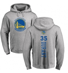 NBA Nike Golden State Warriors #35 Kevin Durant Ash Backer Pullover Hoodie