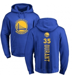 NBA Nike Golden State Warriors #35 Kevin Durant Royal Blue Backer Pullover Hoodie