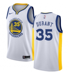 Women's Nike Golden State Warriors #35 Kevin Durant Authentic White Home NBA Jersey - Association Edition