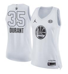 Women's Nike Jordan Golden State Warriors #35 Kevin Durant Swingman White 2018 All-Star Game NBA Jersey