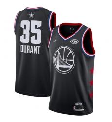 Youth Nike Golden State Warriors #35 Kevin Durant Black Basketball Jordan Swingman 2019 All-Star Game Jersey