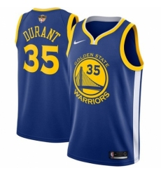 Youth Nike Golden State Warriors #35 Kevin Durant Swingman Royal Blue Road 2018 NBA Finals Bound NBA Jersey - Icon Edition