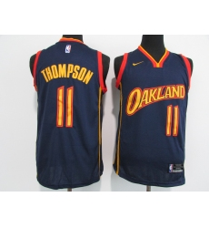 Men's Golden State Warriors #11 Klay Thompson Nike Navy Swingman Player Jersey