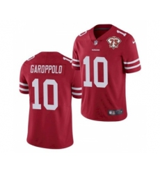 Men's San Francisco 49ers #80 Jerry Rice White 2021 75th Anniversary Vapor Untouchable Limited Jersey