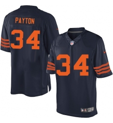 Men's Nike Chicago Bears #34 Walter Payton Navy Blue Alternate Vapor Untouchable Limited Player NFL Jersey