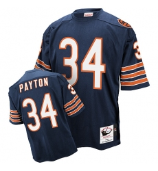 Mitchell and Ness Chicago Bears #34 Walter Payton Blue Team Color Authentic Throwback NFL Jersey