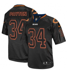 Nike Chicago Bears #34 Walter Payton Lights Out Black Elite NFL Jersey