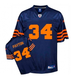 Reebok Chicago Bears #34 Walter Payton Blue 1940s Authentic Throwback NFL Jersey