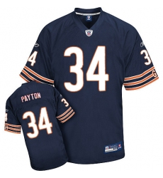 Reebok Chicago Bears #34 Walter Payton Blue Team Color Authentic Throwback NFL Jersey