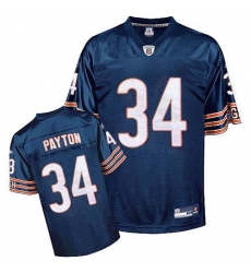 Reebok Chicago Bears #34 Walter Payton Blue Team Color Replica Throwback NFL Jersey