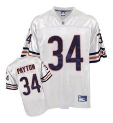 Reebok Chicago Bears #34 Walter Payton White Premier EQT Throwback NFL Jersey
