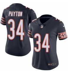 Women's Nike Chicago Bears #34 Walter Payton Navy Blue Team Color Vapor Untouchable Limited Player NFL Jersey
