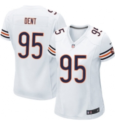Women's Nike Chicago Bears #95 Richard Dent Game White NFL Jersey
