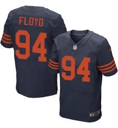 Men's Nike Chicago Bears #94 Leonard Floyd Elite Navy Blue Alternate NFL Jersey