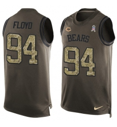 Men's Nike Chicago Bears #94 Leonard Floyd Limited Green Salute to Service Tank Top NFL Jersey