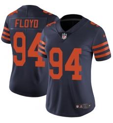 Women's Nike Chicago Bears #94 Leonard Floyd Elite Navy Blue Alternate NFL Jersey