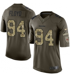 Youth Nike Chicago Bears #94 Leonard Floyd Elite Green Salute to Service NFL Jersey