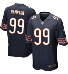 Men's Nike Chicago Bears #99 Dan Hampton Game Navy Blue Team Color NFL Jersey