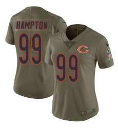Women's Nike Chicago Bears #99 Dan Hampton Limited Olive 2017 Salute to Service NFL Jersey