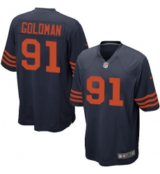 Men's Nike Chicago Bears #91 Eddie Goldman Game Navy Blue Alternate NFL Jersey