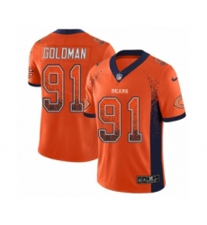 Men's Nike Chicago Bears #91 Eddie Goldman Limited Orange Rush Drift Fashion NFL Jersey