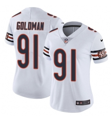 Women's Nike Chicago Bears #91 Eddie Goldman Elite White NFL Jersey