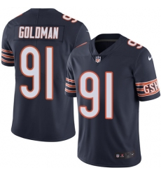 Youth Nike Chicago Bears #91 Eddie Goldman Elite Navy Blue Team Color NFL Jersey