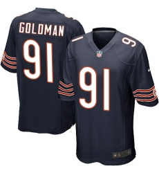 Youth Nike Chicago Bears #91 Eddie Goldman Game Navy Blue Team Color NFL Jersey