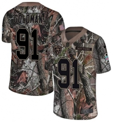 Youth Nike Chicago Bears #91 Eddie Goldman Limited Camo Rush Realtree NFL Jersey
