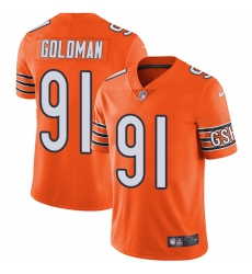 Youth Nike Chicago Bears #91 Eddie Goldman Limited Orange Rush Vapor Untouchable NFL Jersey
