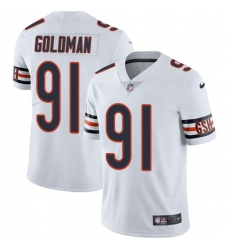 Youth Nike Chicago Bears #91 Eddie Goldman White Vapor Untouchable Limited Player NFL Jersey