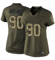Women's Nike Chicago Bears #90 Jonathan Bullard Elite Green Salute to Service NFL Jersey
