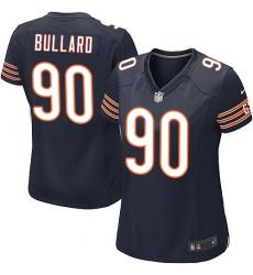Women's Nike Chicago Bears #90 Jonathan Bullard Game Navy Blue Team Color NFL Jersey