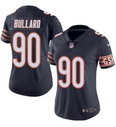 Women's Nike Chicago Bears #90 Jonathan Bullard Navy Blue Team Color Vapor Untouchable Limited Player NFL Jersey