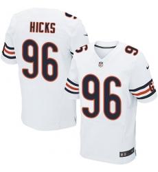 Men's Nike Chicago Bears #96 Akiem Hicks Elite White NFL Jersey
