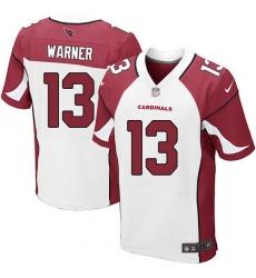 Men's Nike Arizona Cardinals #13 Kurt Warner Elite White NFL Jersey