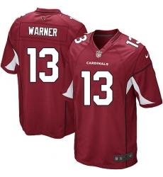 Men's Nike Arizona Cardinals #13 Kurt Warner Game Red Team Color NFL Jersey