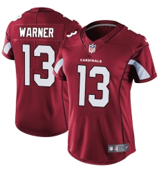 Women's Nike Arizona Cardinals #13 Kurt Warner Elite Red Team Color NFL Jersey
