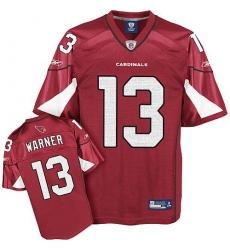 Youth Reebok Arizona Cardinals #13 Kurt Warner Red Team Color Replica Throwback NFL Jersey